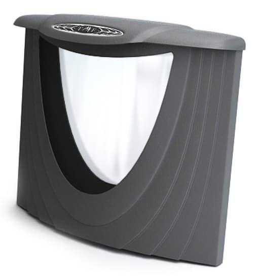 Дверца со светопрозрачным экраном «ТMF» антрацит
