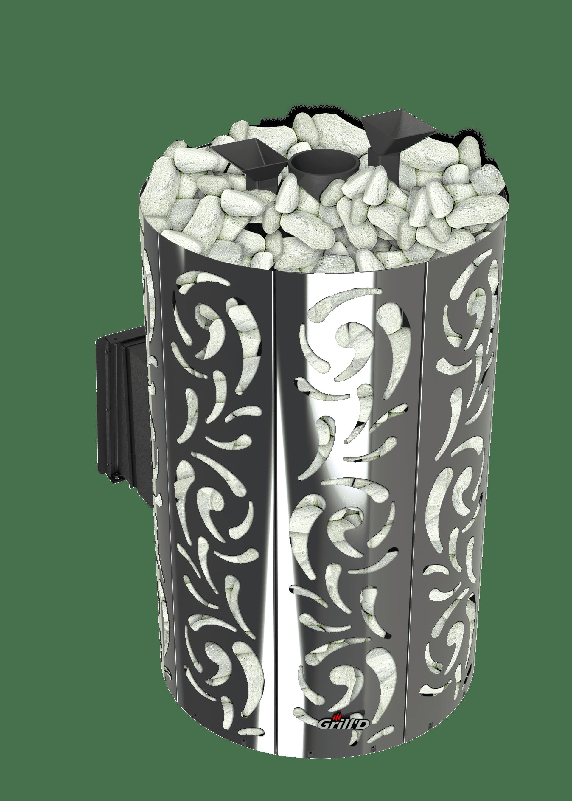 Банная печь Grill'D Violet World Long Window Max (Жадеит 170 кг)