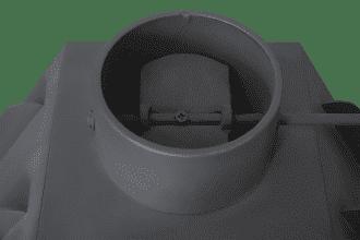Каминная металлическая топка «ЭкоКамин Альфа 700R» два стекла правая