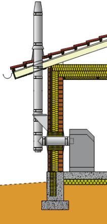 Стальной дымоход Ø 130 мм, 4 м, Schiedel Permeter 25 черный, настенный