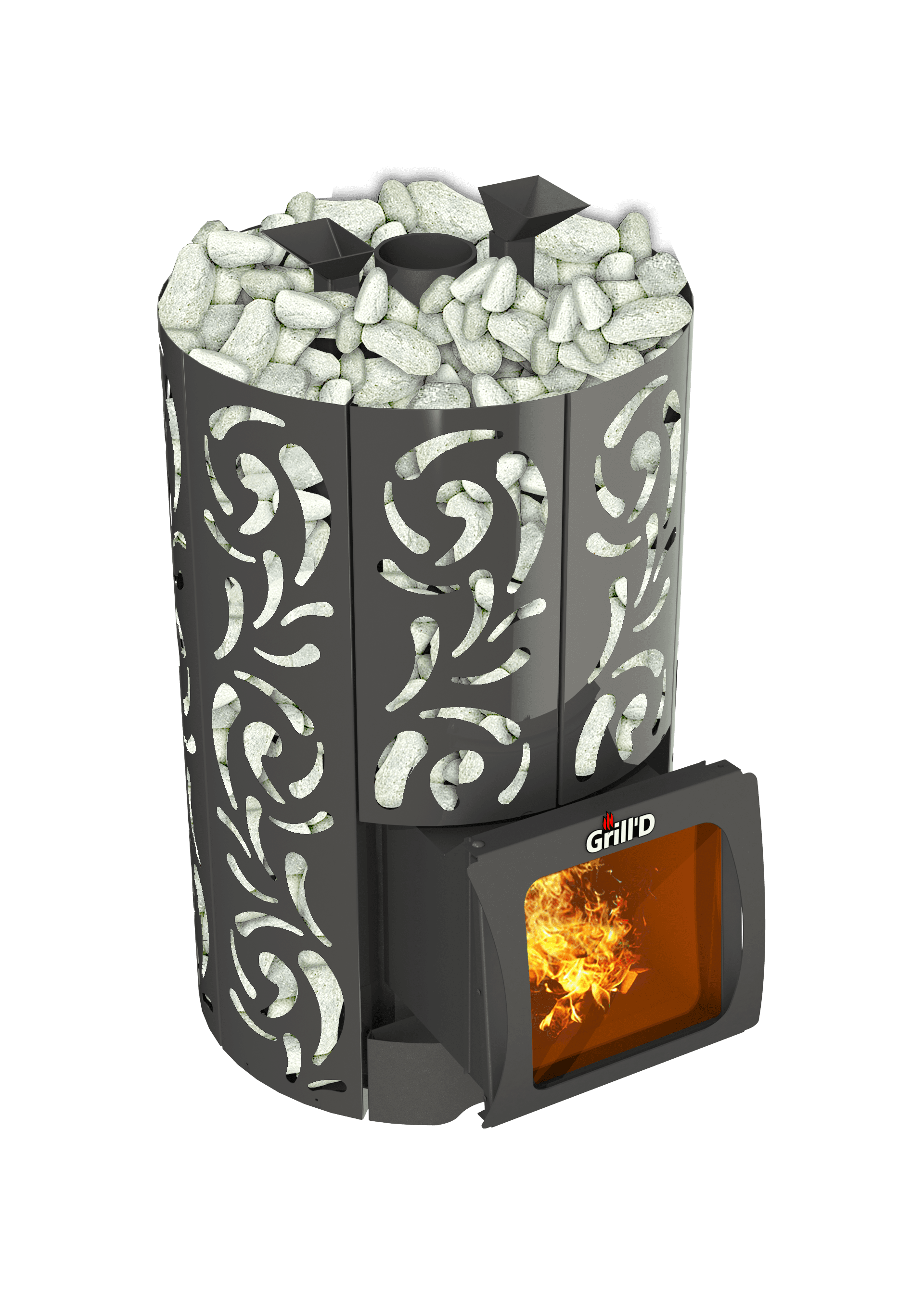 Банная печь Grill'D Violet World Short Window Max (Жадеит 170 кг)