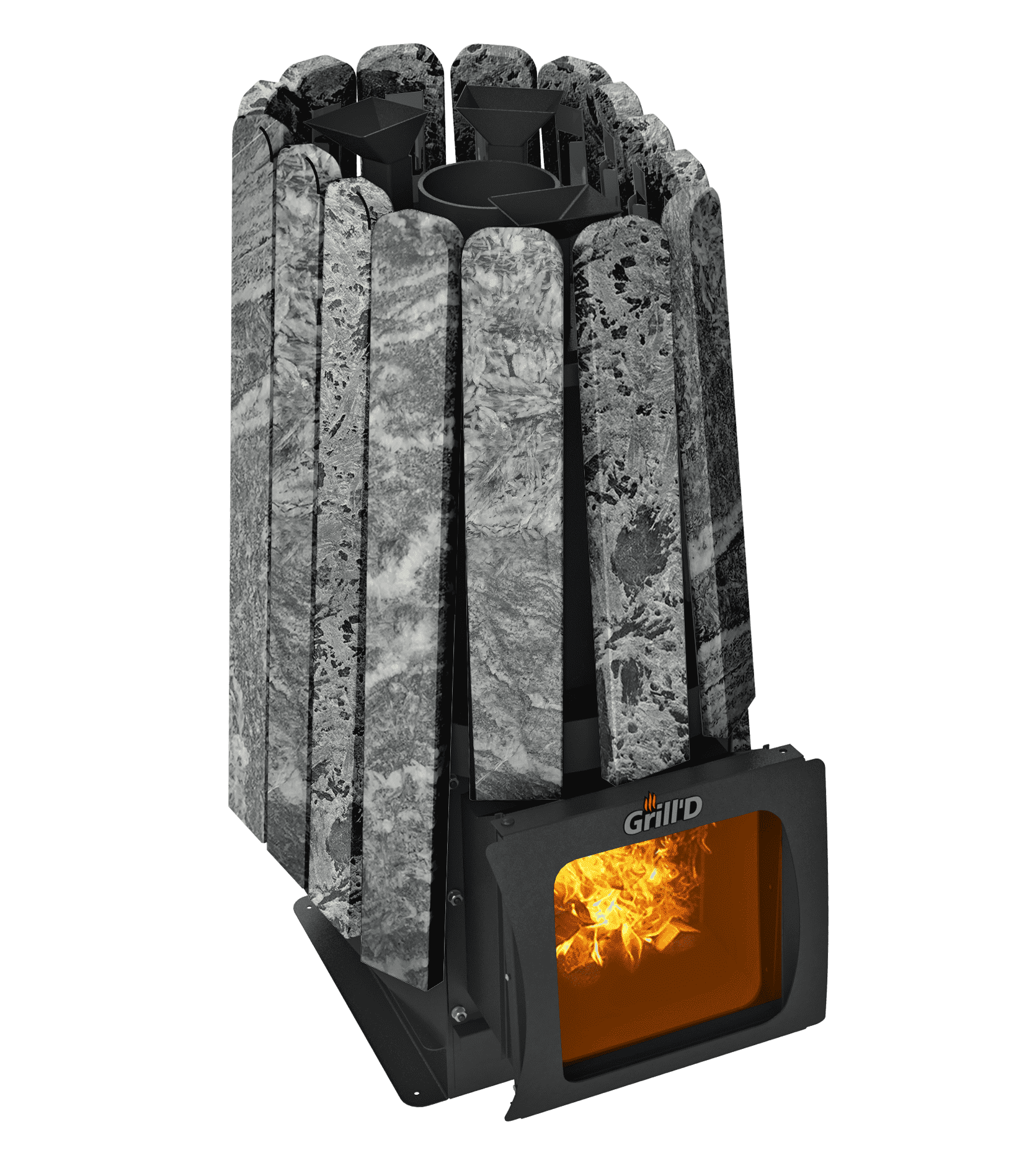 Банная печь Grill'D Cometa 350 Vega Short Window Max Stone