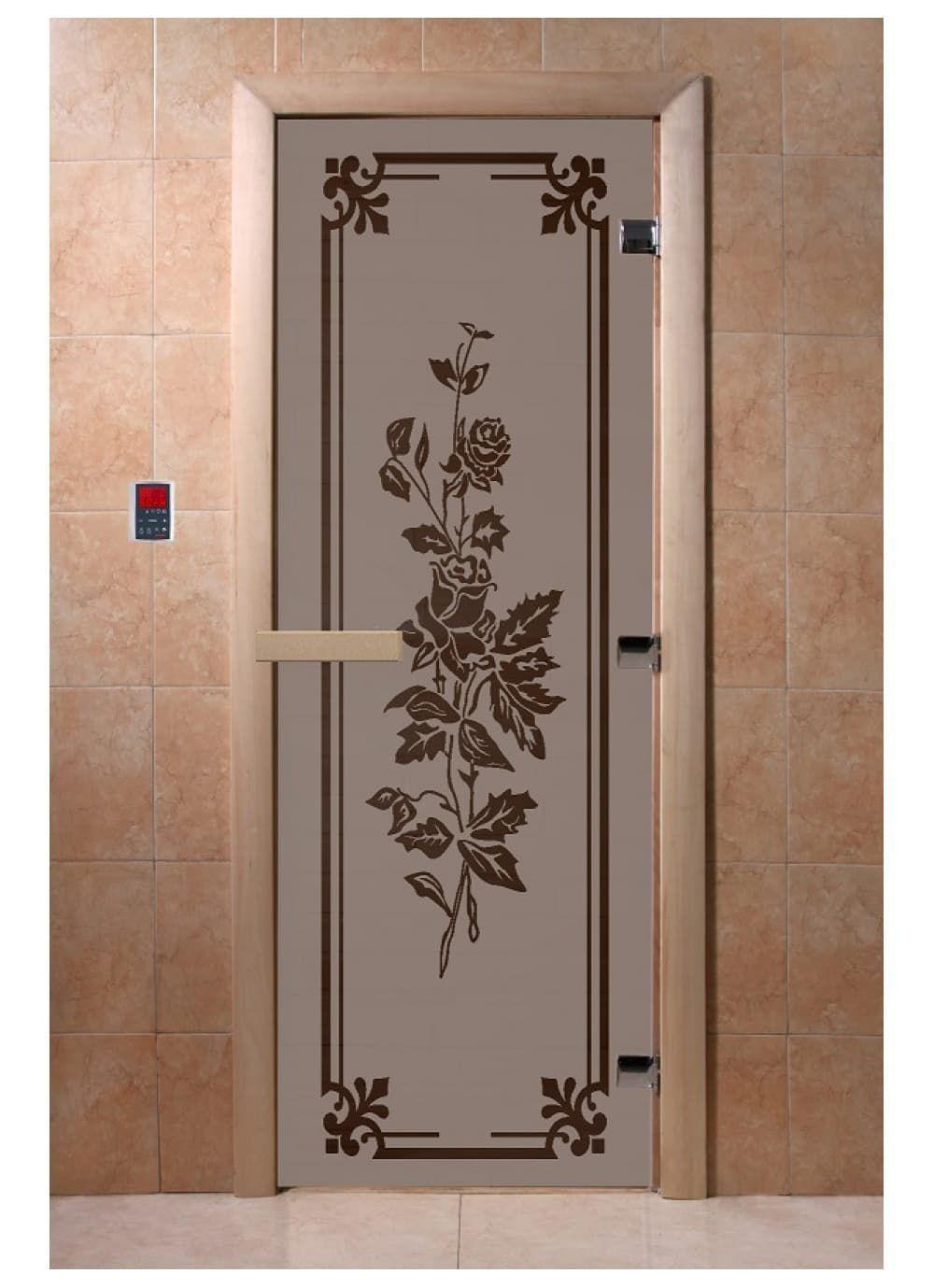 """Дверь """"Розы черный жемчуг матовая"""""""