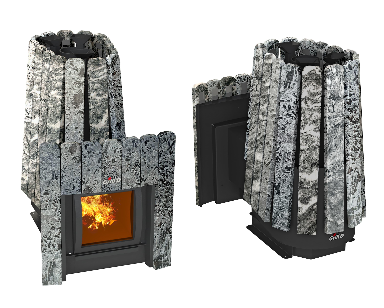 Банная печь Grill'D Cometa 350 Vega Window Max Stone