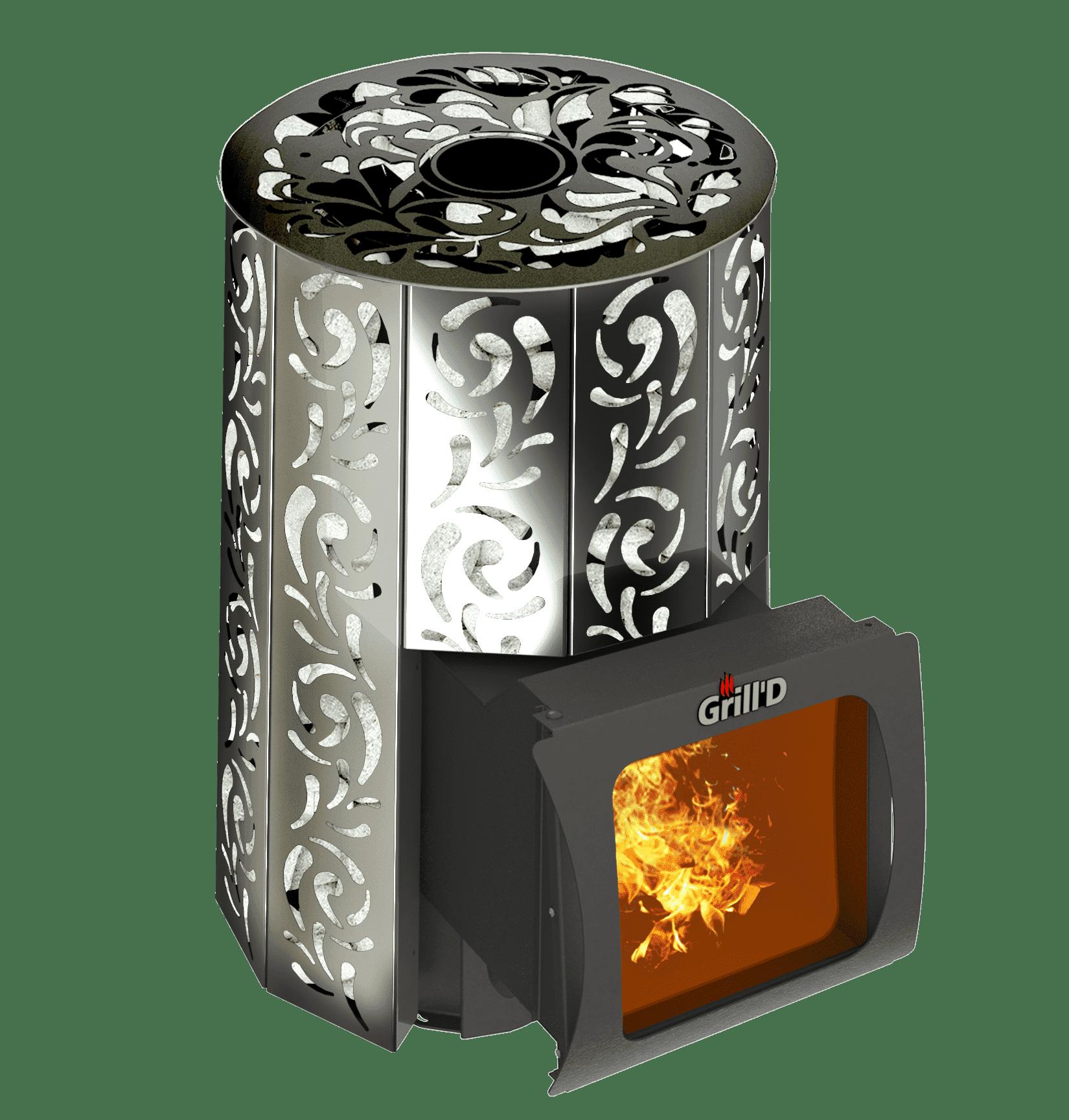 Банная печь Grill'D Violet Short Window Max (Жадеит 80 кг)