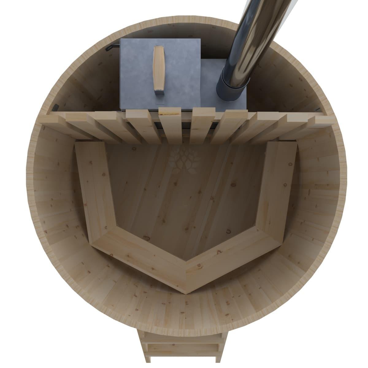 Фурако из кедра BentWood D=1.5 с внутренней печкой