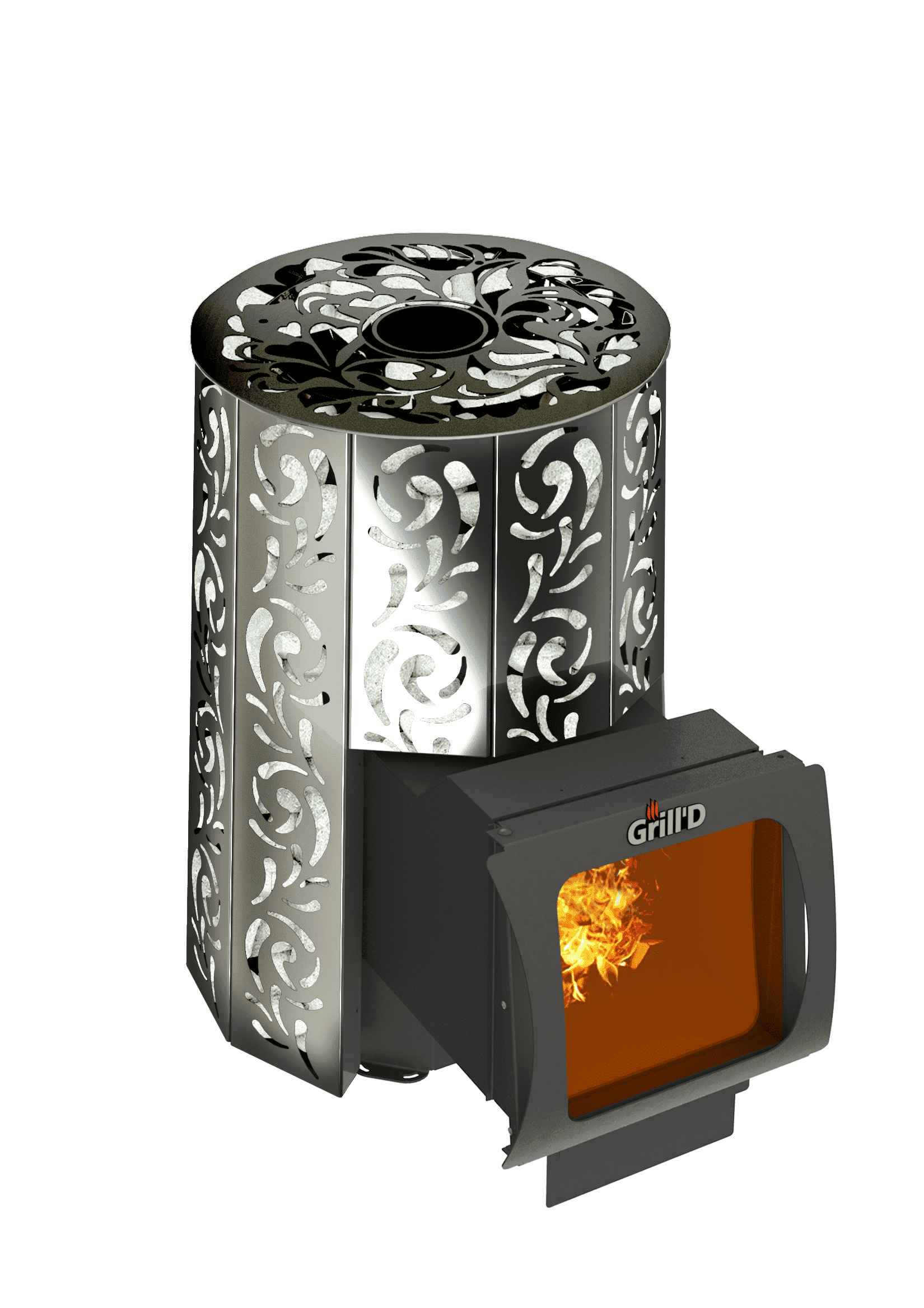 Банная печь Grill'D Violet Long Window Max (Жадеит 80 кг)