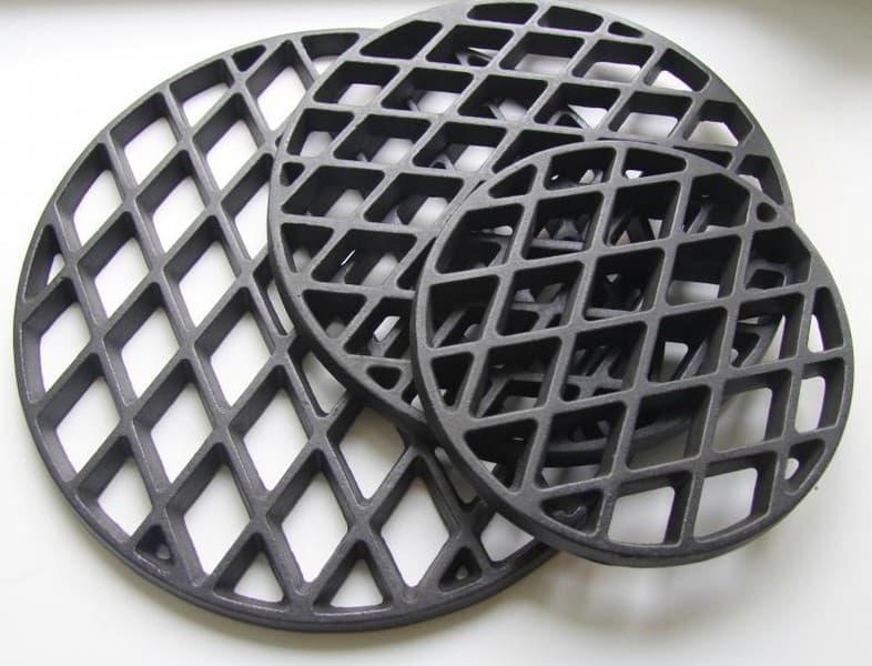Решетка чугунная для стейков d 210мм