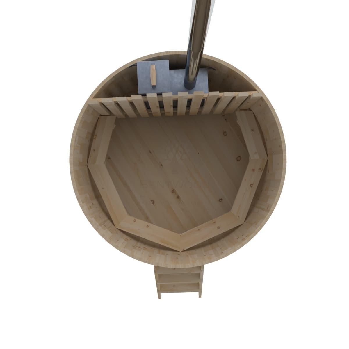 Фурако из кедра BentWood D=2.1 с внутренней печкой