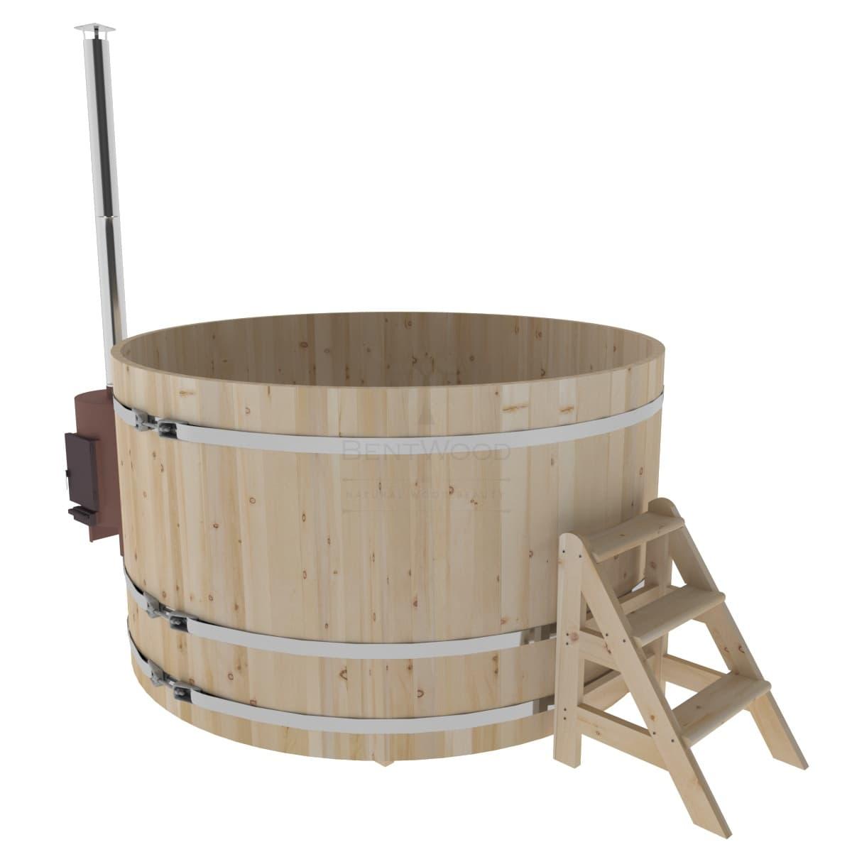 Фурако из кедра BentWood D=2.1 с наружной печкой