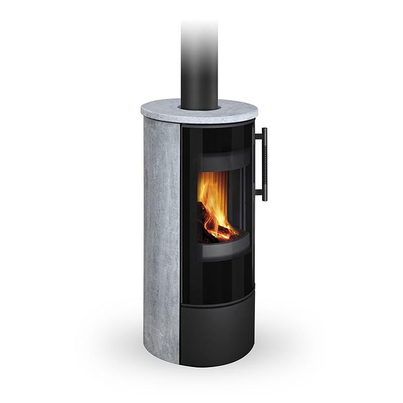 Печь для сауны Ферингер Мини 'До 16 м³' - Облицовка 'Сильвия Оро + Россо Леванте' - Обрамление 'Металл'