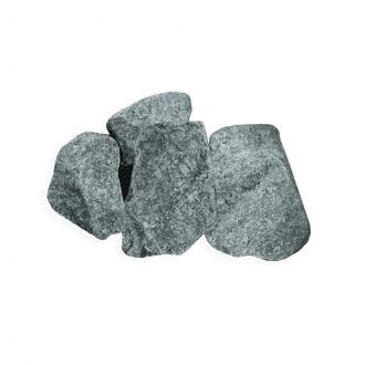 Камень для бани и сауны серпентинит колотый мелкий (ведро 10 кг)