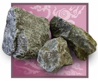 Камень для бани и сауны порфирит (коробка 20 кг)
