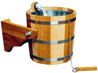 Обливное устройство Woodson с нержавеющей вставкой 12 л, дуб