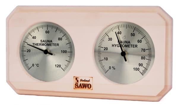 Термогигрометр для бани Sawo 221-THA осина