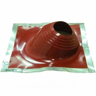 Уплотнитель кровельных проходов Master Flash №2 угловой, cиликон «Профи», красный