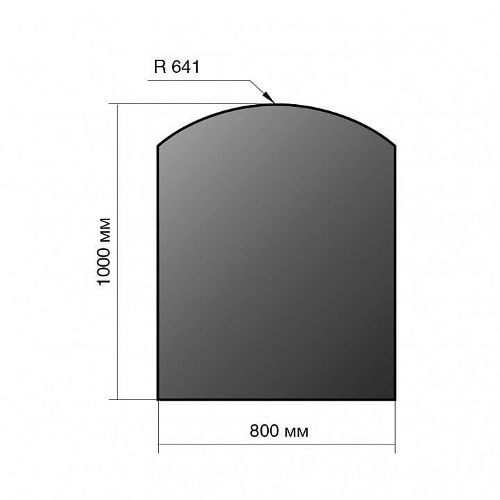 Лист напольный сталь «Везувий» 1000х800х2 мм R641