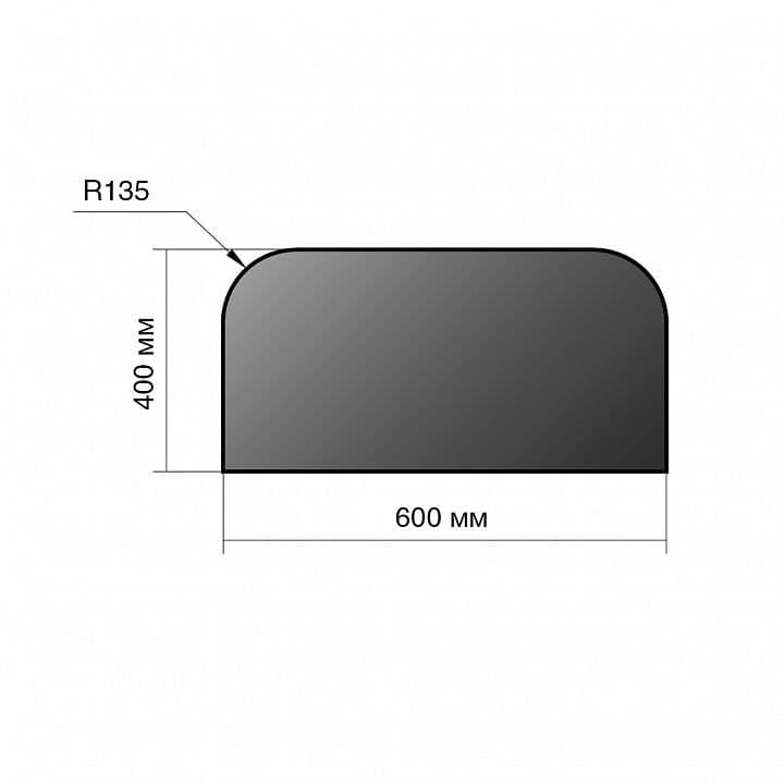 Лист предтопочный сталь «Везувий» 400х600х2 мм R135