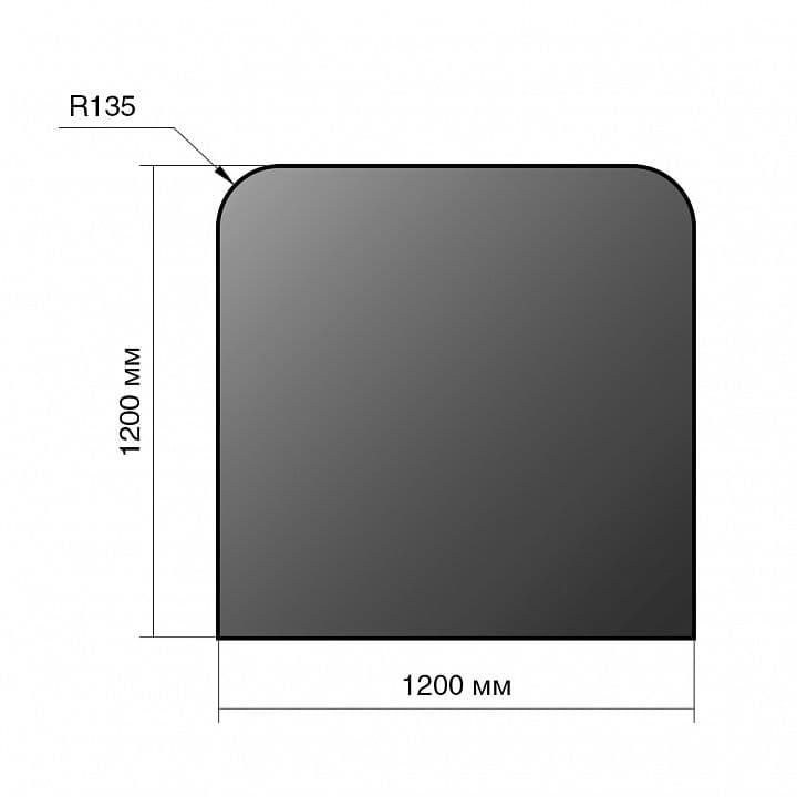 Лист напольный сталь «Везувий» 1200х1200х2 мм R135