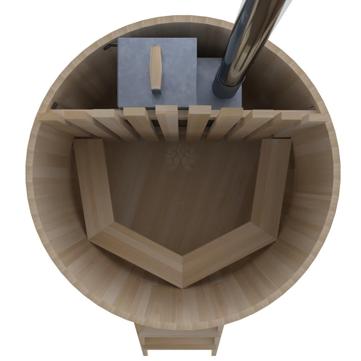 Фурако из кедра BentWood Премиум D=1.5 с внутренней печкой