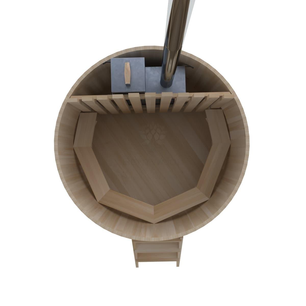 Фурако из кедра BentWood Премиум D=1.8 с внутренней печкой
