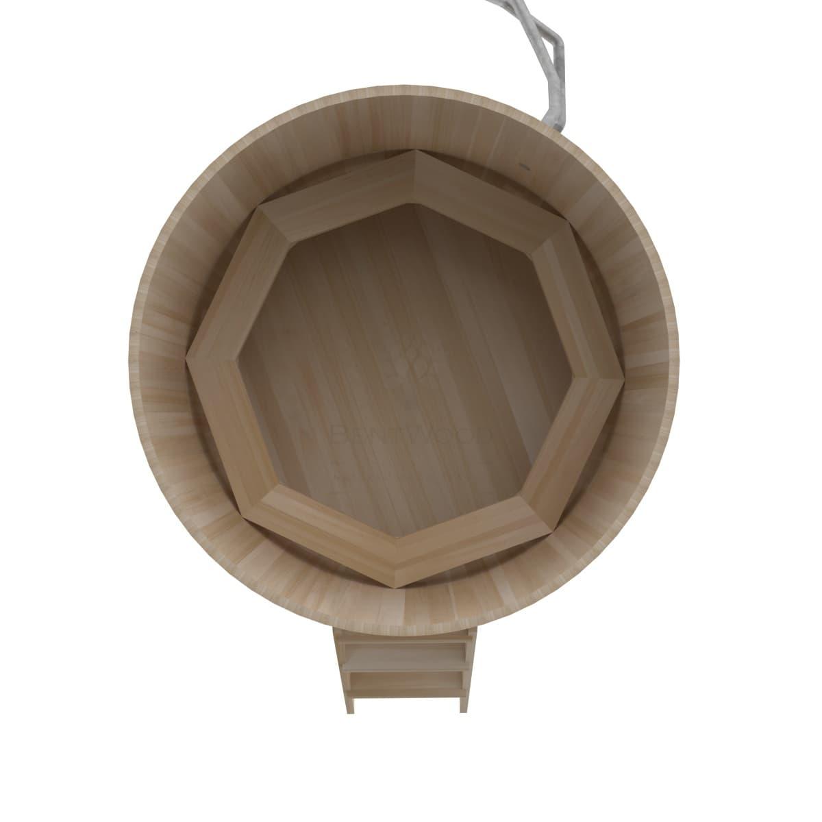 Фурако из кедра BentWood Премиум D=1.8 с наружной печкой