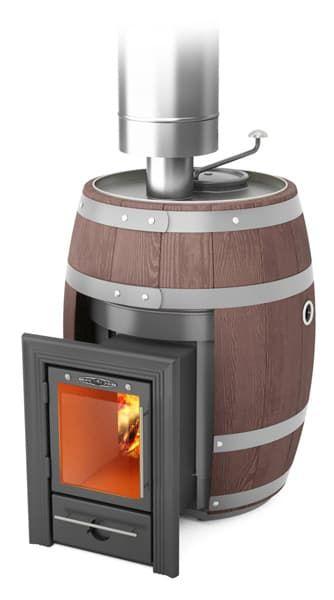 Банная печь-кондиционер «ТМF Скоропарка Баррель 2012 Inox Люмина» палисандр