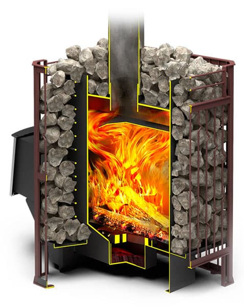 Банная печь «Теплодар Тамань-Сетка 20Т»