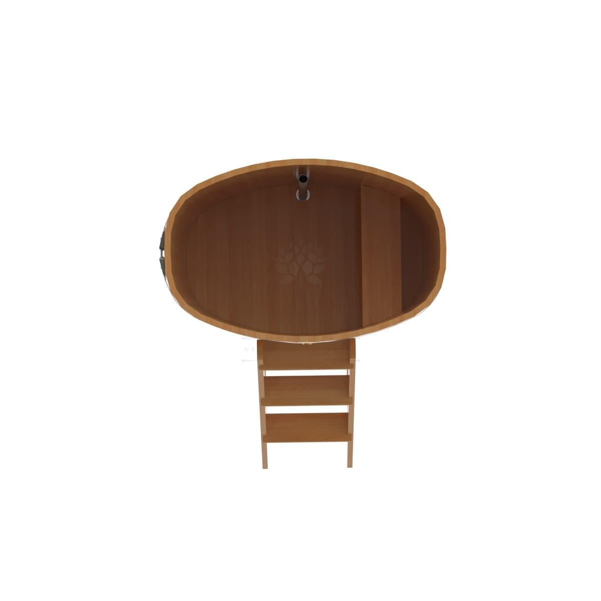 Купель овальная из лиственницы BentWood 0,76х1,16