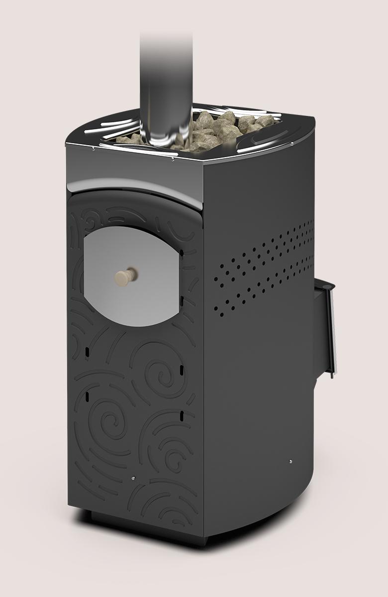 Банная печь «Теплодар Домна-20 ЛК Панорама»