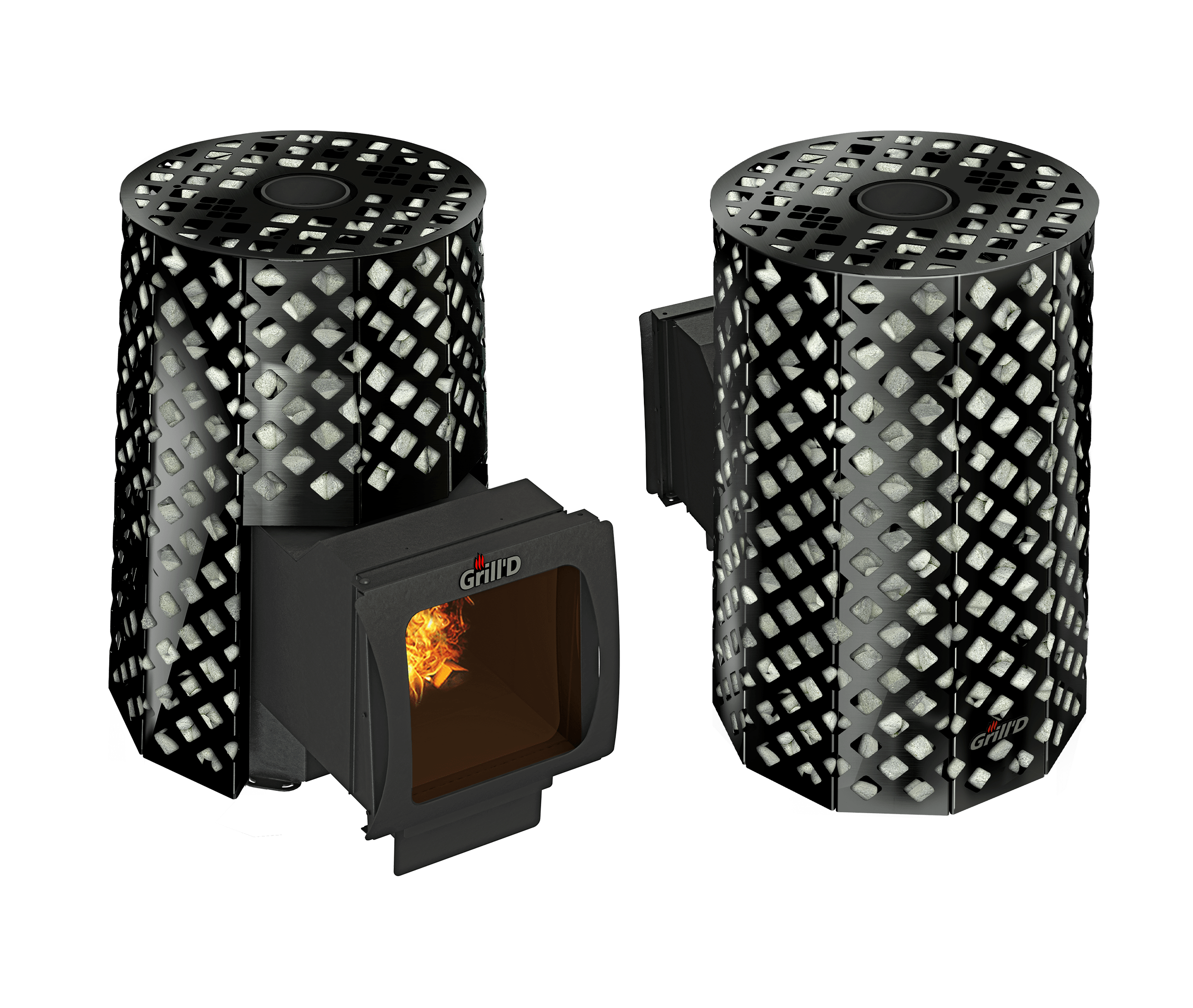Банная печь Grill'D Violet Romb Long Window Max (Жадеит 100 кг)