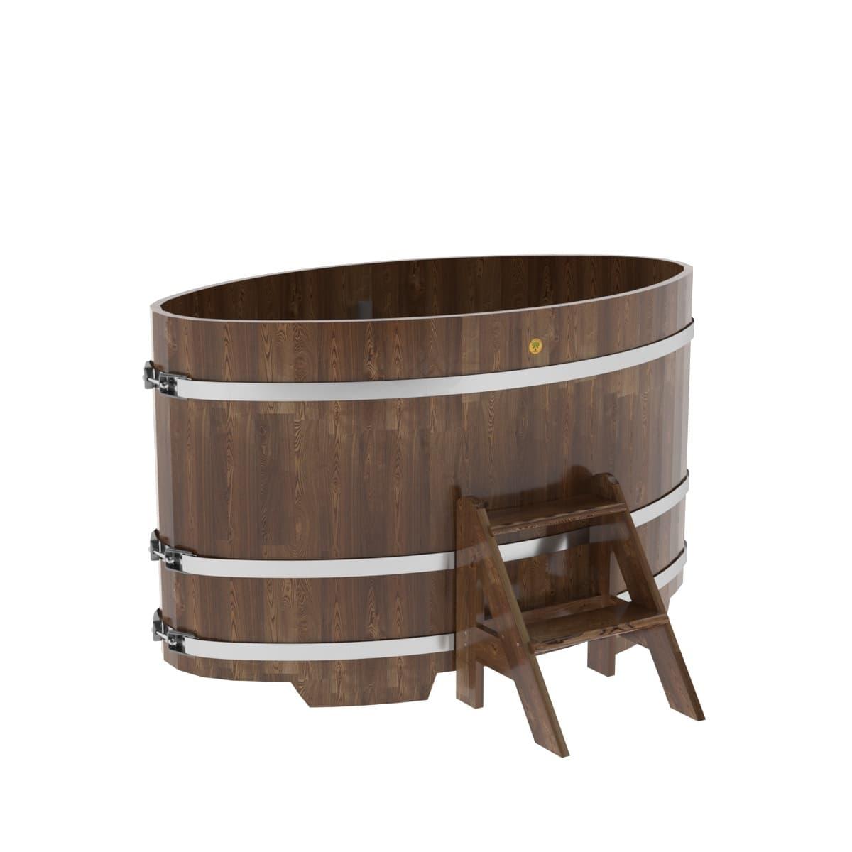 Купель овальная из сращенных ламелей лиственницы BentWood 0,95х1,60
