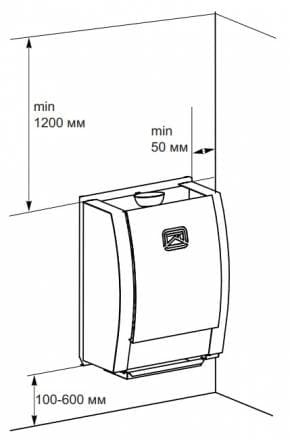 Электрокаменка настенная «Теплодар» SteamFit 2