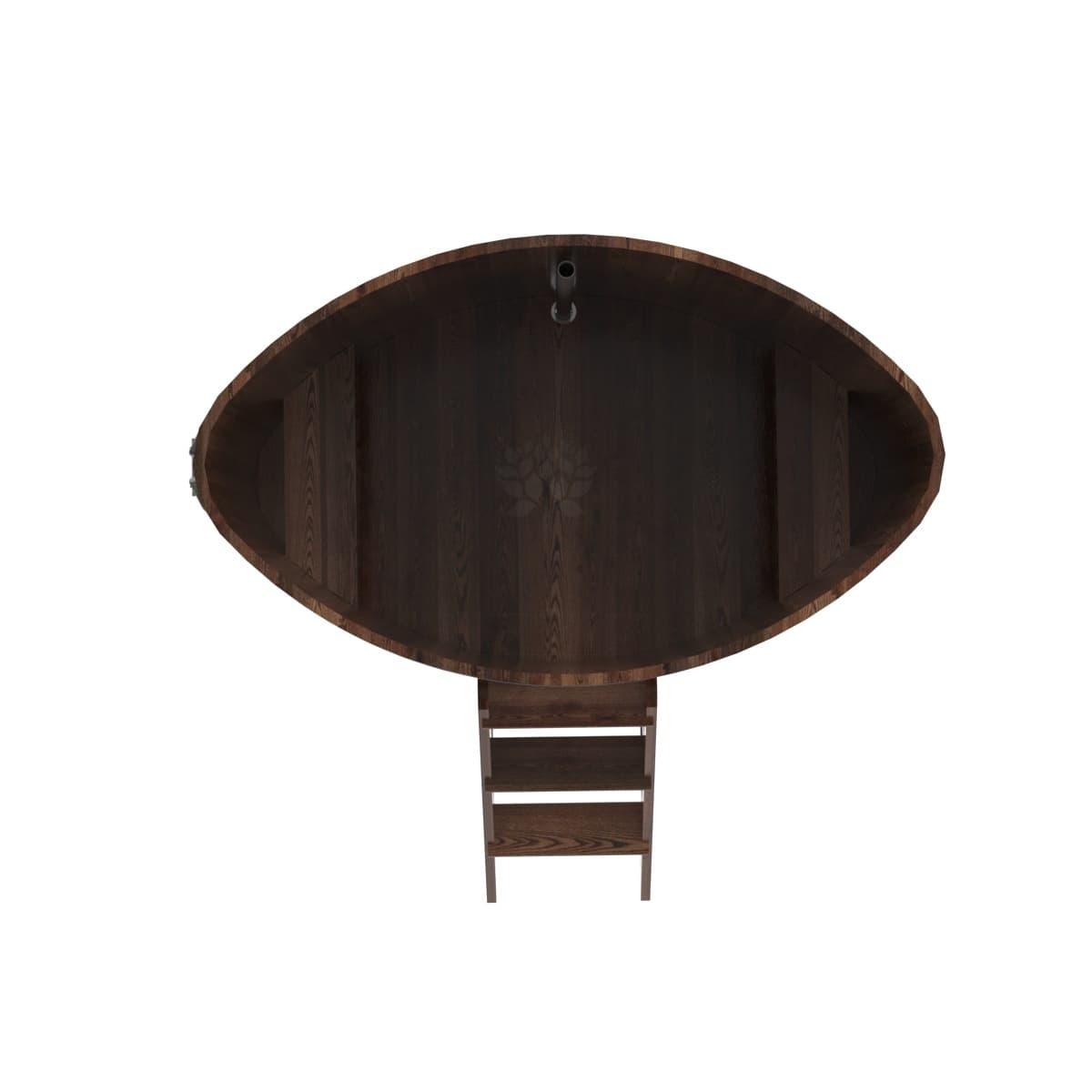 Купель овальная из лиственницы BentWood 1,02Х1,68