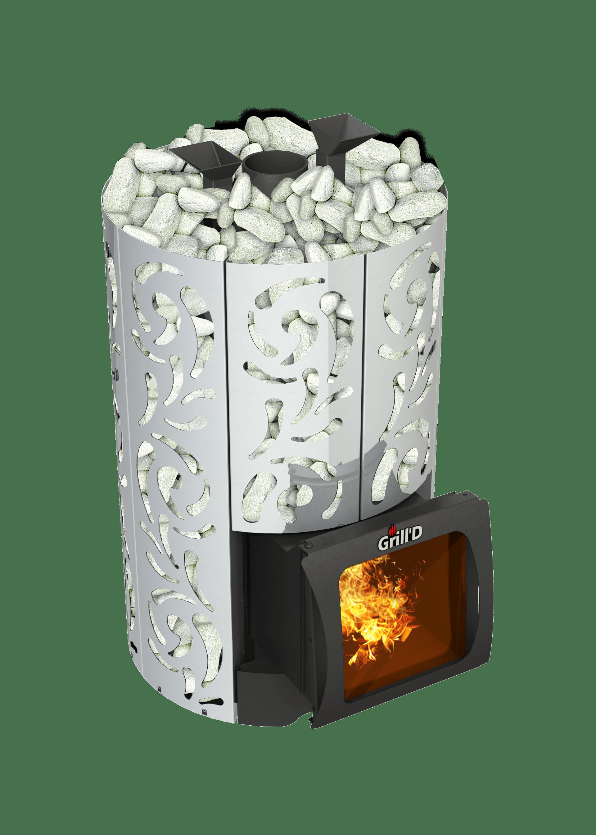 Банная печь Grill'D Violet World Steel Short Window Max (Жадеит 170 кг)