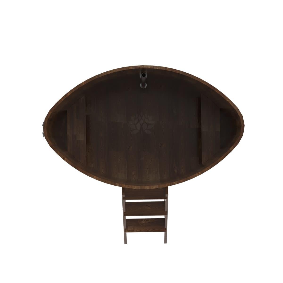 Купель овальная из сращенных ламелей лиственницы BentWood 1,08х1,75
