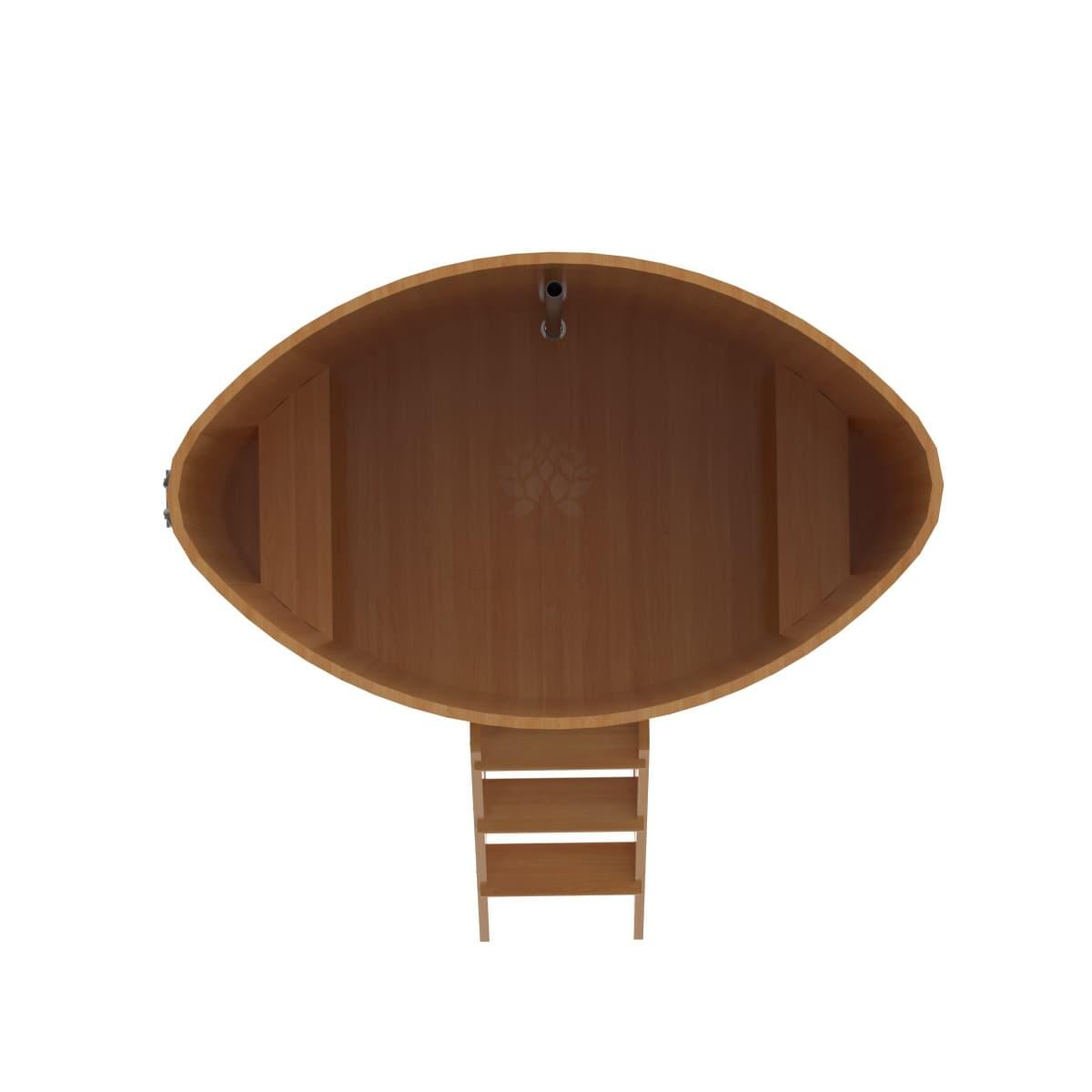 Купель овальная из лиственницы BentWood 1,08х1,75