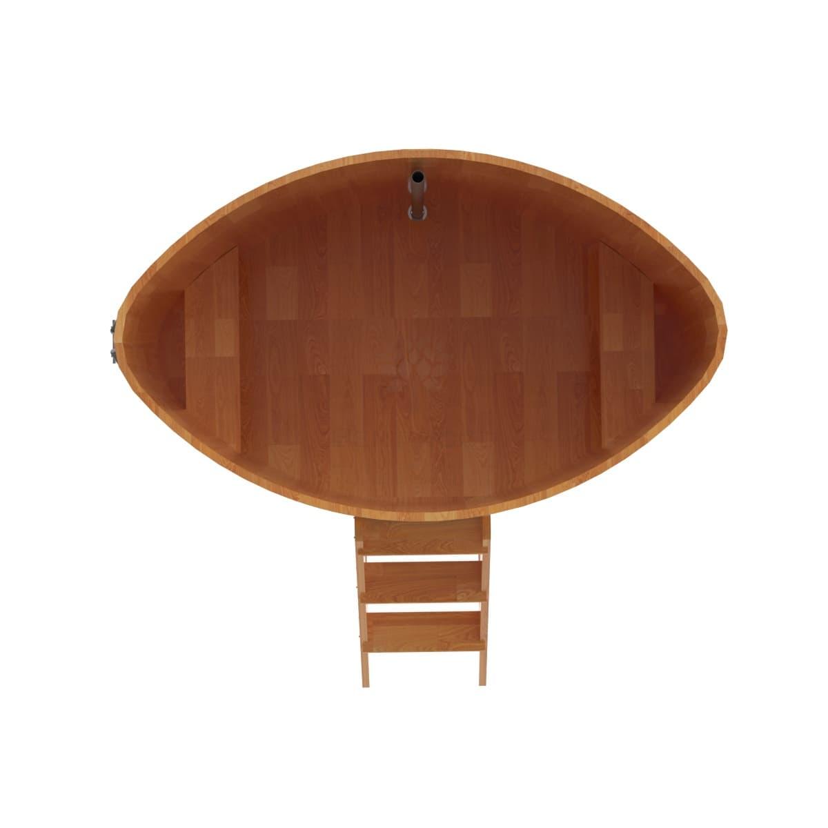 Купель овальная из сращенных ламелей лиственницы BentWood 1,15Х1,83