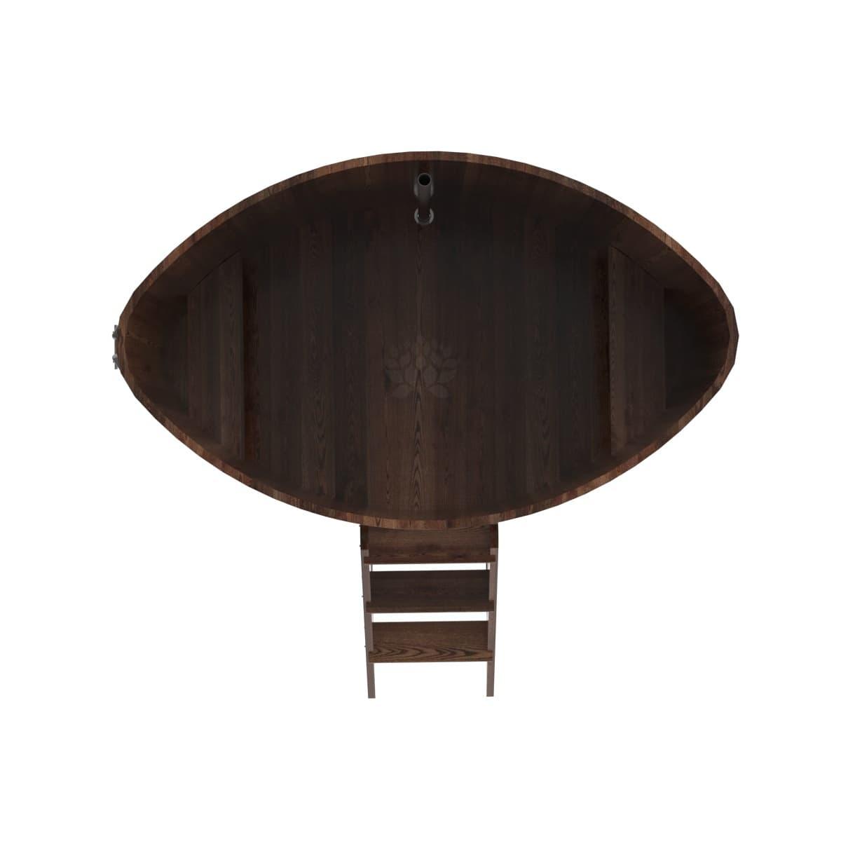 Купель овальная из лиственницы BentWood 1,15х1,83