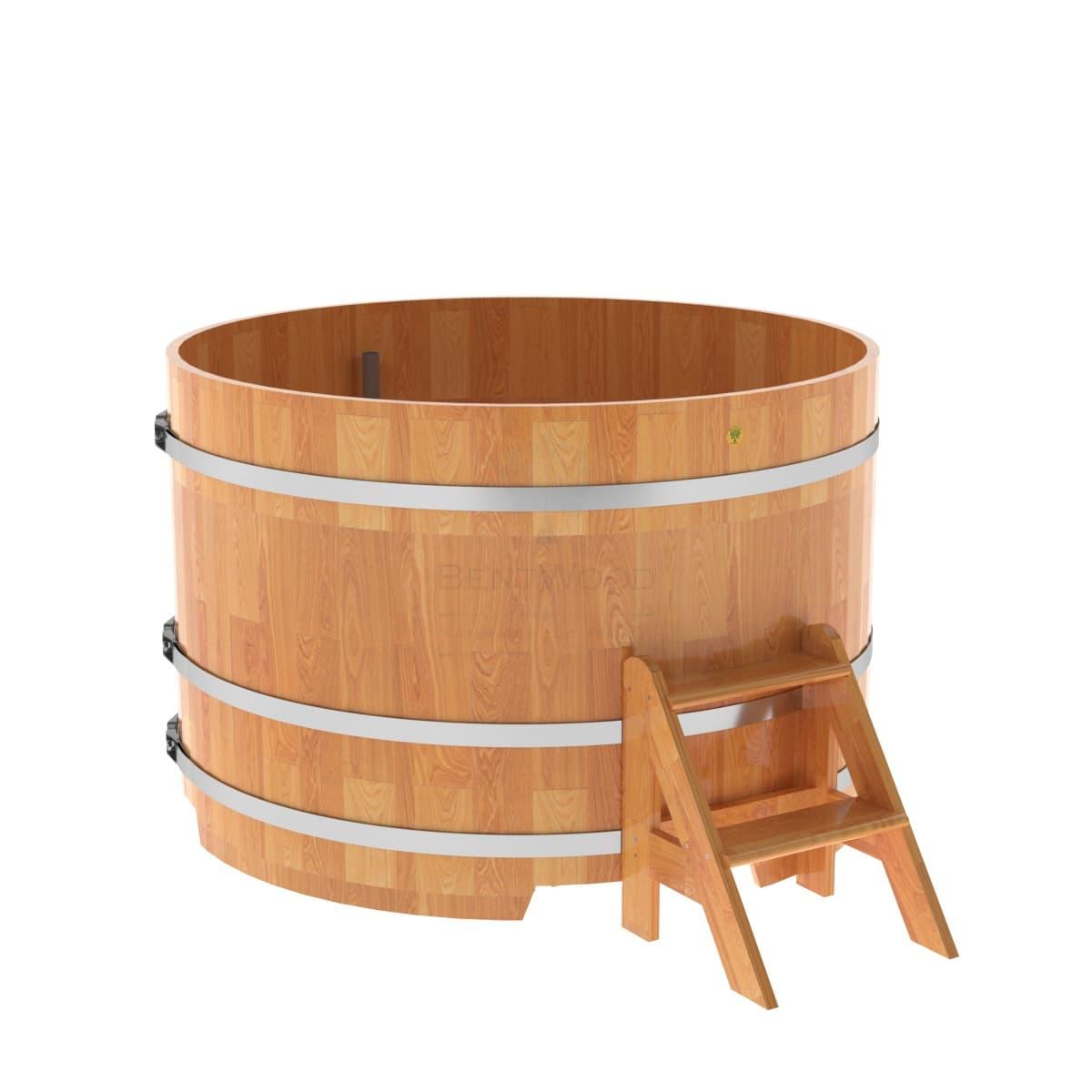 Купель круглая из сращенных ламелей лиственницы BentWood D=1,50