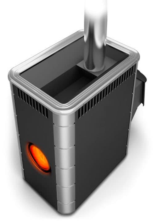 Банная печь «TMF Аврора Inox» антрацит, с иллюминатором