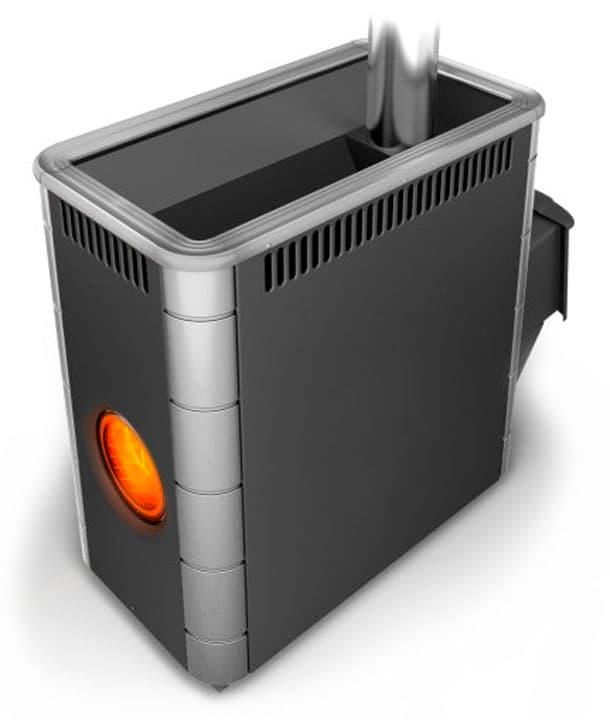 Банная печь «TMF Аврора XXL Inox» антрацит, с иллюминатором