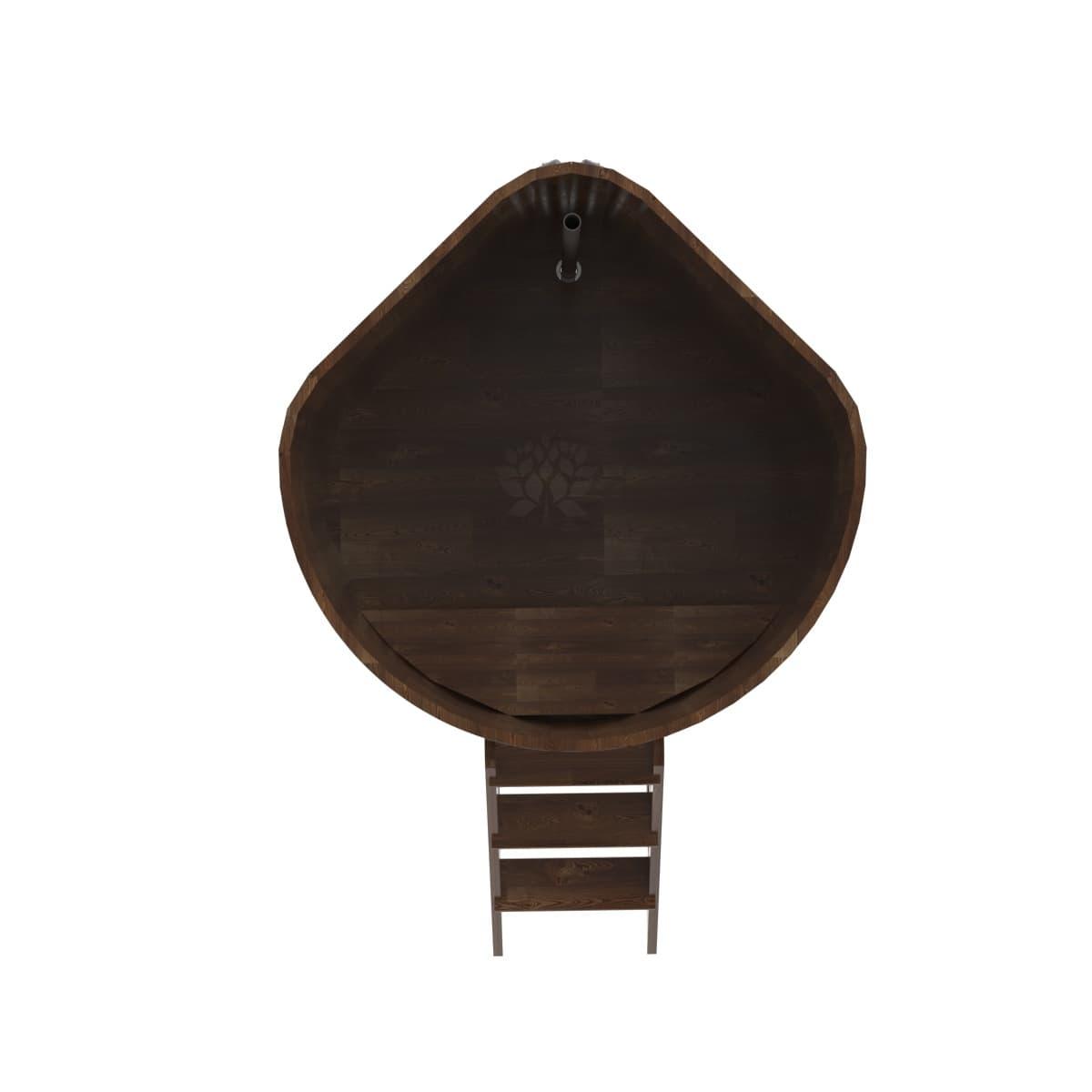 Купель угловая из сращенных ламелей лиственницы BentWood 1,31х1,31