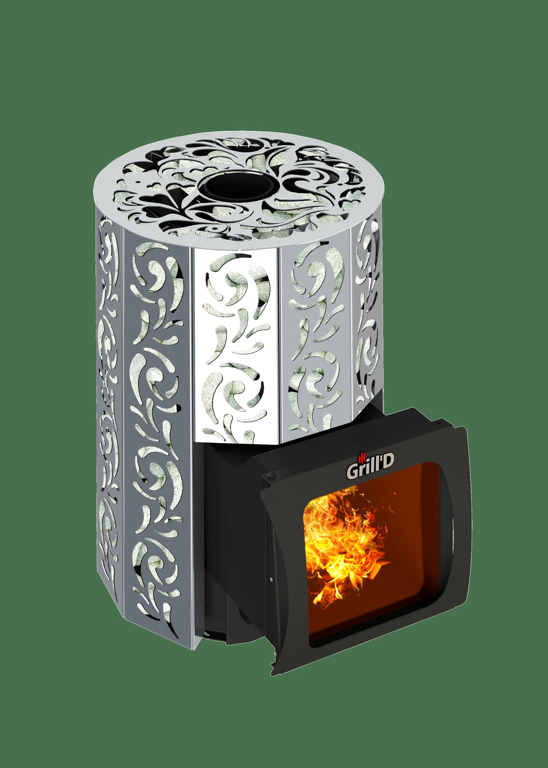 Банная печь Grill'D Violet Steel Short Window Max (Жадеит 100 кг)