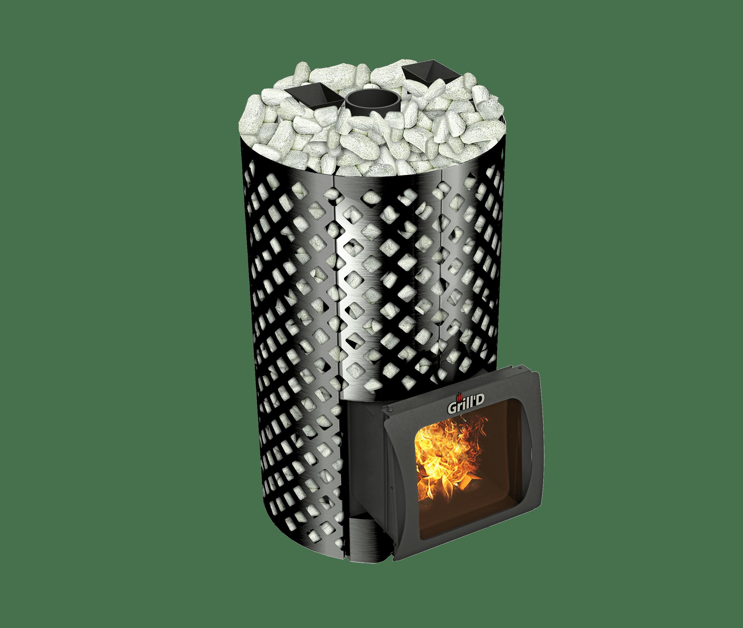 Банная печь Grill'D Violet World Romb Short Window Max (Жадеит 170 кг)