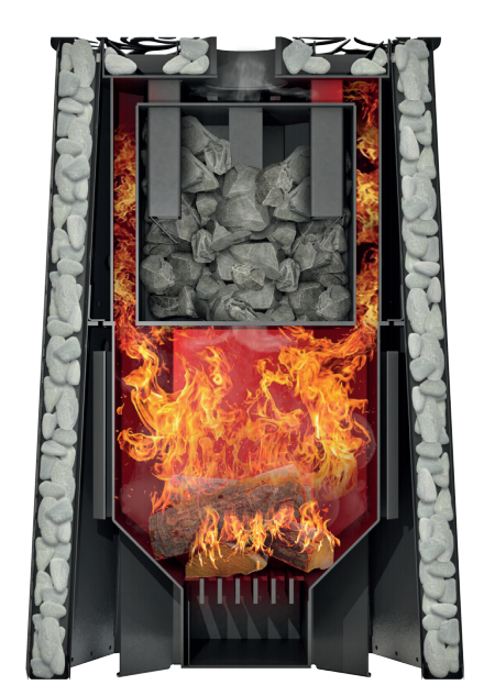 Банная печь Grill'D Violet Steel Long (Жадеит 100 кг)