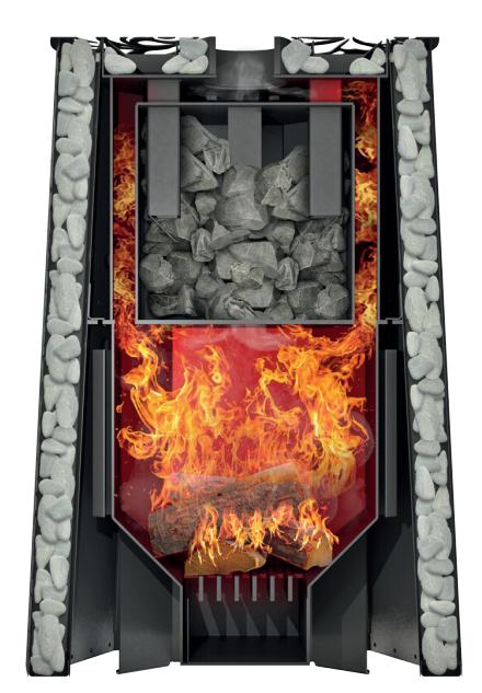 Банная печь Grill'D Violet Steel Romb Long Window Max (Жадеит 100 кг)