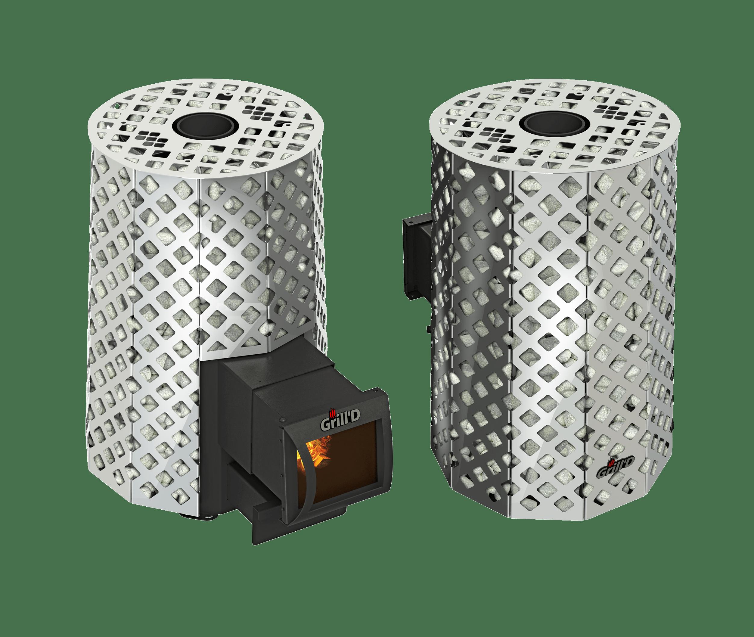 Банная печь Grill'D Violet Steel Romb Long (Жадеит 100 кг)