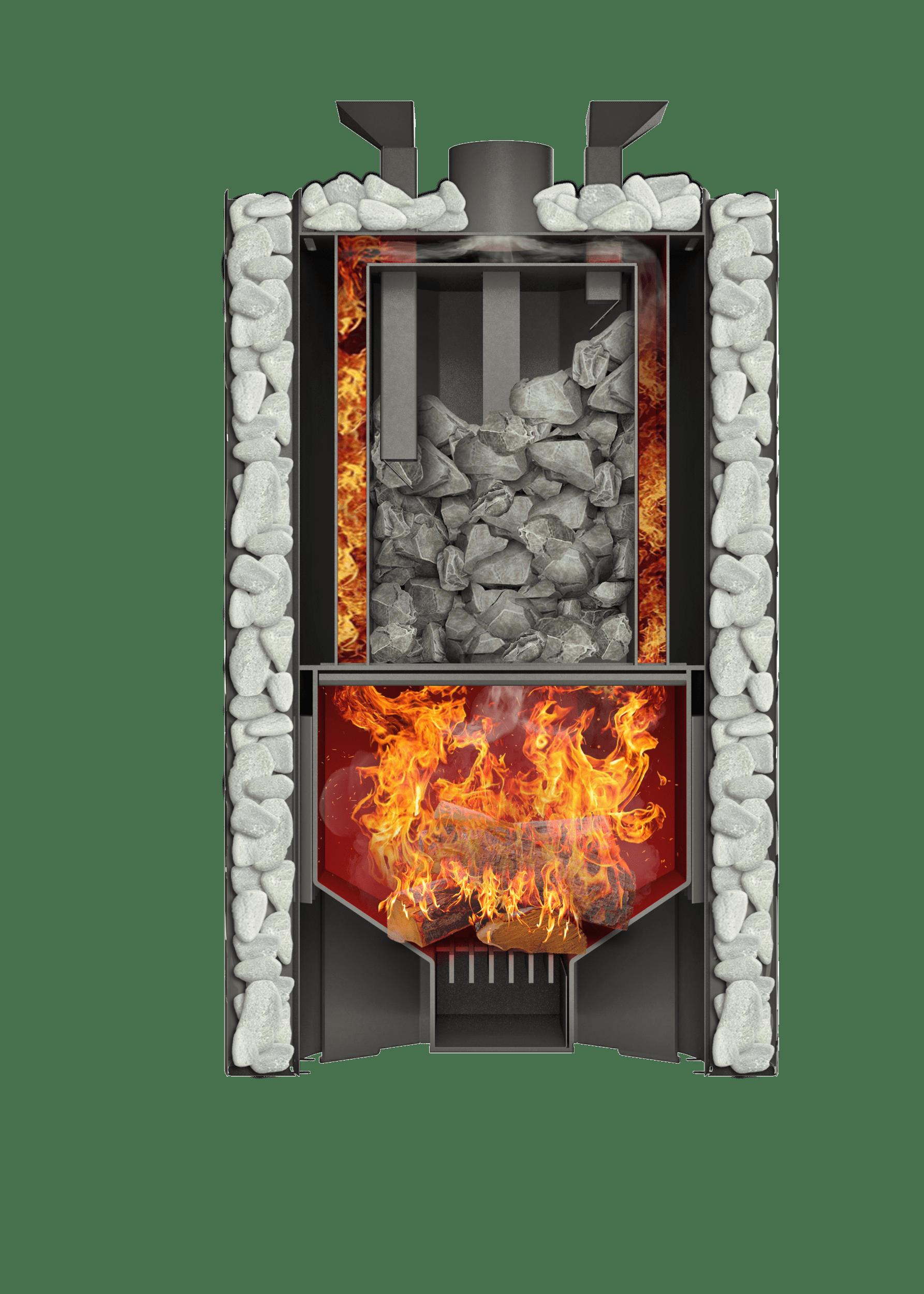 Банная печь Grill'D Violet World Steel Romb Short Window Max (Жадеит 170 кг)
