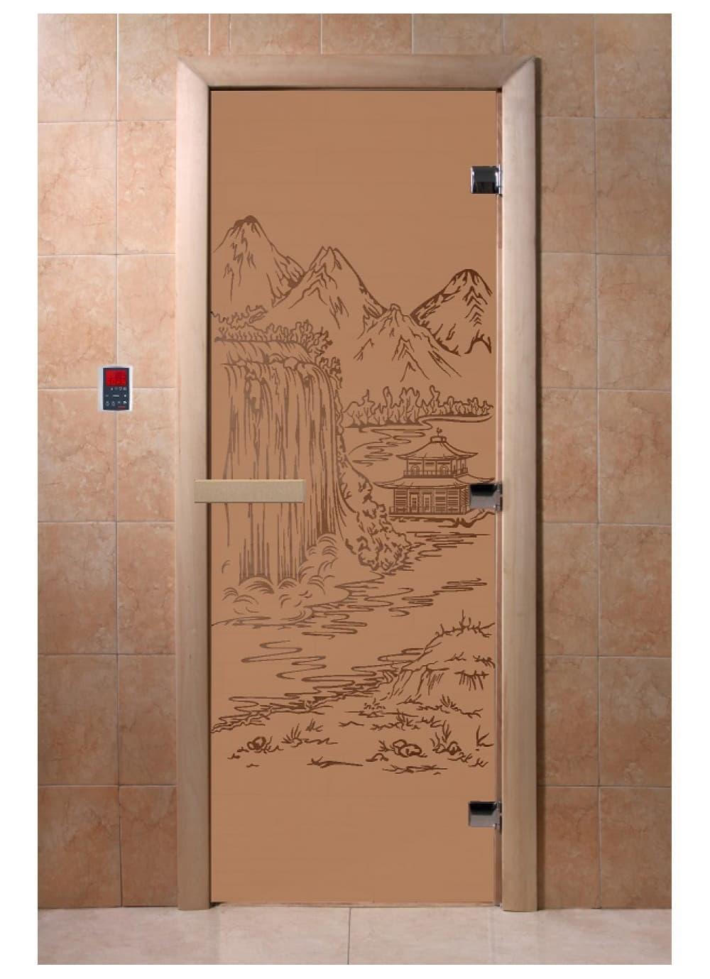 """Дверь """"Китай бронза матовая"""""""